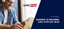 Webinar SolarEdge 25 Novembre