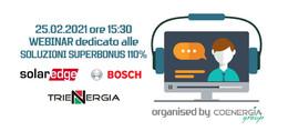WEBINAR-25.02.2021 Superbonus SolarEdge, Trienergia, Bosch
