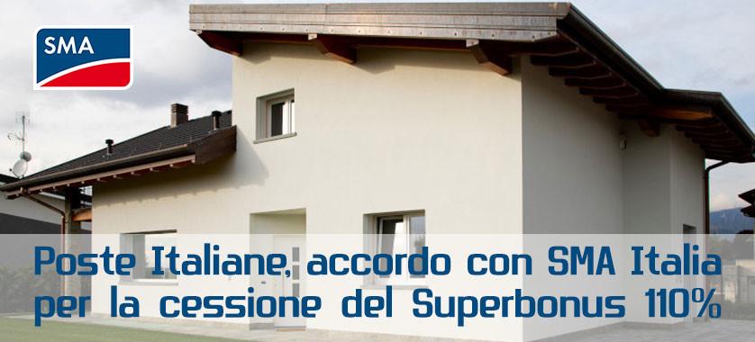 Accordo tra SMA e Poste Italiane per il 110%