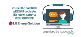 Webinar batteria RESU 16H PRIME LG CHEM 22 Aprile 2021