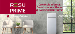 Coenergia informa: Come ottenere 10 anni di garanzia con la nuova RESU Prime LG Energy Solution