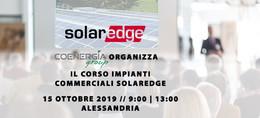 Corso SolarEdge Coenergia 15 Ottobre Alessandria