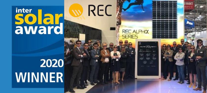 REC Vincitore Intersolar Award 2020
